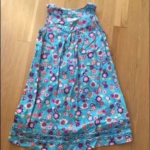 Hanna Andersson stylish blue teal dress sz 5-6